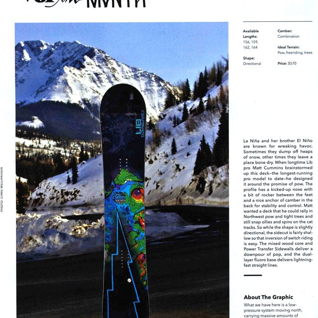 Image From TWS: Board of the Month – La Niña
