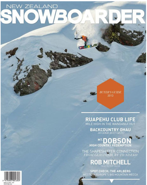 NZ Snowboarder Cover
